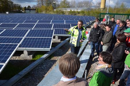Zwischenstop an der Enerparc-Photovoltaikanlage